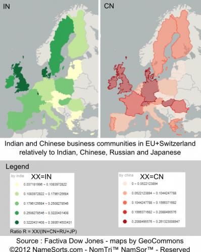 indiens et chinois dans les affaires en Europe (2013)